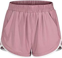 Borrels van de Laag van de Taille van vrouwen de Elastische Dubbele Toevallige Lopende met de ZijSportkleding van Zakken