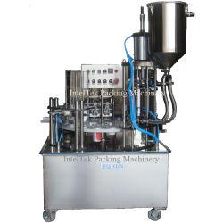 سعر البيع الساخن خط الإنتاج الآلي كوب البلاستيك الشرب النقية آلة تغليف المياه لمنع تسرب عصير اللبن