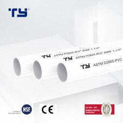 تصميم جديد ASTM PVC-U أنابيب الصرف البلاستيكية أنابيب المياه العلامات التجارية الشركة المصنعة لقائمة أسعار السباكة