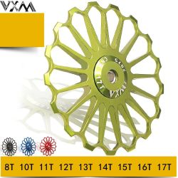 Vxm горных велосипедов дорожного движения заднего подшипника набора направляющее колесо керамические зуб металлической направляющей трансмиссии колеса
