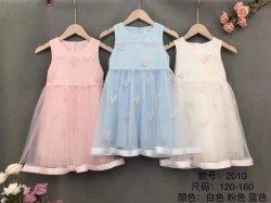 Mode Kinderbekleidung Sommer Kinderbekleidung Gekleidet Design Mesh Mädchen Kleid Party Kleider