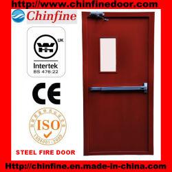 Puerta cortafuego de acero resistente al fuego con BS Certificado (CF-F008)