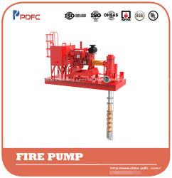 Homologué UL Turbine centrifuge Pompes incendie électrique ou option Pilote Diesel, verticale de la pompe à eau, de la pompe à turbine de l'arbre long vertical