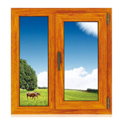 Revestimiento de madera de roble rojo interior salto térmico de la ventana de aluminio