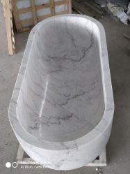 Banheira branca Autoportante Banheira pedra para massagem SPA