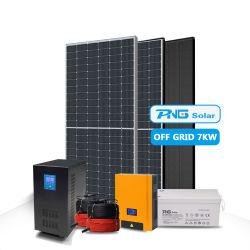 Простая установка солнечной системы питания 6Квт 7 квт 8 квт 10квт off Grid Солнечной системы
