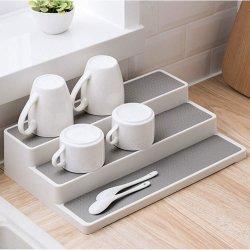 Étape 3 antiglisse Tier étagère à épices de cuisine de l'organiseur l'armoire rack