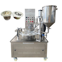 كوب قياس الجرانيت الدقيق مع الشاي بوم الروتاري التلقائي ماكينة تعبئة صندوق غطاء فتحة التعبئة