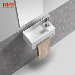 20 ans d'usine du bassin de lavage de la pierre artificielle de la résine acrylique mur accroché, le Cabinet, couter haut Corian Surface solide Hôtel vanité lavabo