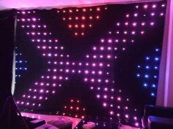 Высота 2 м х 3 м ширины P18см видение шторки для DJ фоне тканью