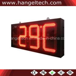 LED Numérico Eletrônico Exterior Temperatura tempo o relógio de parede (16 polegadas dígito)