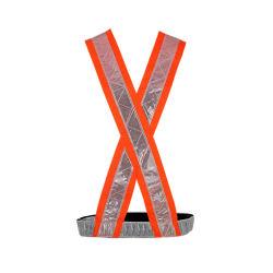 100% Polyester Reflecterende Veiligheidsriemen Vest Met Pvc Tape