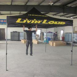سعر تنافسي في الخارج 3*3 أمتار طي خيمة Gazebo مع شعار الطباعة