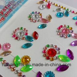 Форму цветка акриловый Rhinestone Diamond наклейка для мобильного телефона