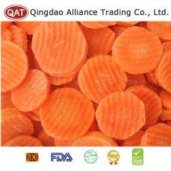 L'exportation de tranches de carottes congelées standard