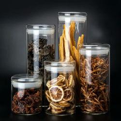 Luftdichtes Kaffee-Glas-Dekoration-Glasnahrungsmittelsüßigkeit-Glas-Glaskanister-Küchenbedarf-Speicher-Glas-Glas