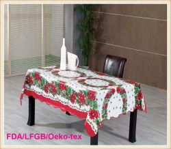 Toalha de mesa de PVC com estilo de Natal (TJ0760)