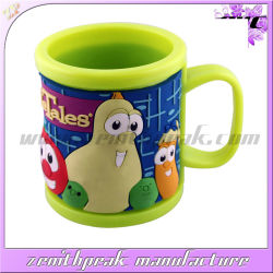 Personalizar el diseño del Zoo de PVC plástico suave taza Mug