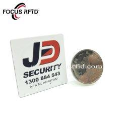 Commerce de gros de l'impression étiquette Flacon de parfum de métal blanc autocollant des balises pour le suivi des actifs