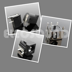 Jack c.c. RoHS électrique en plastique noir de 2,1 mm