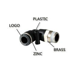 Los componentes neumáticos de alto rendimiento con negro (botón Pl8-01)