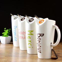 Regalo de cerámica de la Copa de paja de la Copa Regalo Promocional Mug de cerámica de diseño