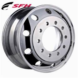 Concentrador de espárrago piloteado pulido de Llanta de aleación de aluminio forjado de la rueda de acero para todos los camiones, autobuses y remolques