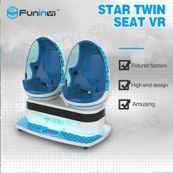تجربة الواقع الافتراضي تجربة جديدة فاخرة 2 البيض كابسولات 9d VR آلة ألعاب ألعاب ألعاب ألعاب ألعاب ألعاب ألعاب ألعاب الملاهي في الواقع الافتراضي