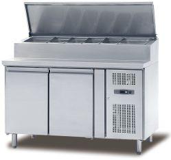 스테인리스 스틸 팬 냉각 샌드위치, 테이블 냉장고 준비