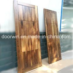 Elegante diseño de la puerta de madera ACABADO INTERIOR Puerta de madera de nogal negro para la venta