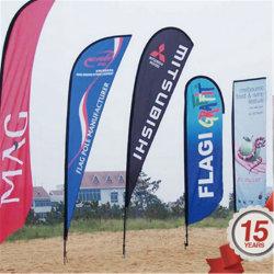 Drapeau de tissu de sublimation 90 G-220 G Beach Flag drapeau du pays ou une autre bannière Teardrop drapeau