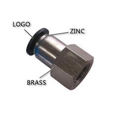 Connecteur de hautes performances pneumatique avec bouton noir (PCF 6-03)