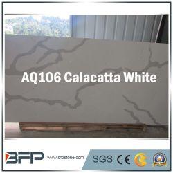 カウンタートップ、壁の装飾のための人工的な水晶石贅沢なCalacatta