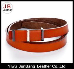 Los hombres camisas cinturones de metal de la moda de negocios formal de la correa de cuero