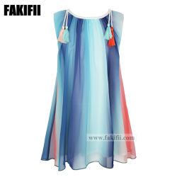 2021 Frühling / Sommer Kinderkleidung Baby Kleidung Mädchen Holiday Party Chiffon Kleid