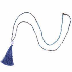 L'eau douce Perles de la chaîne de perles Necklace Long haut de gamme à la main des glands PENDENTIFS FEMME Cadeau