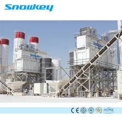 Snowkey ha messo in contenitori il sistema di raffreddamento concreto industriale della pianta di ghiaccio di grande capienza