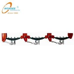 Tráiler pesado de piezas de mecánica de doble suspensión de los ejes de 28t