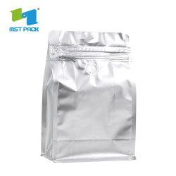 Umweltfreundliche Spitzenqualität kundenspezifischer Firmenzeichen-Druck-Aluminiumfolie-biodegradierbarer Plastikkaffee-Beutel, der mit Reißverschluss verpackt