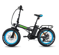 20 inch Fat Tire Foldable City Electric Bike achtermotor Met lithiumbatterij
