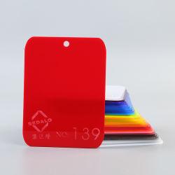 Lichtdurchlässige feste rote Farbe warf AcrylSheets/PMMA Blatt/Plexiglas /Perspex