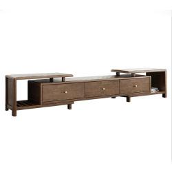 Nordic Light meuble TV en bois massif de luxe en bois de Frêne couleur noyer Armoire de base combinée paulownias Simple Mobilier de salle de séjour 0035