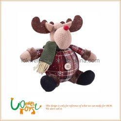 Decoratie van het Huis van het Ornament van het Stuk speelgoed van Doll van de Pluche van Kerstmis de Zachte Pluche Gevulde