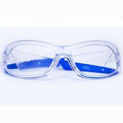 Lentille PC/PC en PVC blanc du bras de lunettes de sécurité des lunettes de protection
