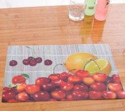 맞춤형 인쇄 디자인 3D 렌즈 플라스틱 PP 플레이스 매트 / PP 테이블 매트