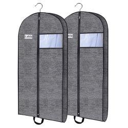 비 3개의 도매 주문 로고 옷장 걸이에 의하여 길쌈되는 재사용할 수 있는 Foldable 형식 덮개 또는 여행용 양복 커버의 공장 세트