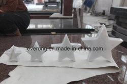 Pedra natural Pentagram Carving lado entalhado Crystal Five-Pointed Star