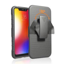 3 в 1 жесткий чехол оболочки Combo Protecitive сотовый телефон случай с зажимом для ремня для Motorola P30 воспроизведения или один из