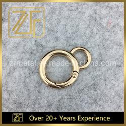 Commerce de gros anneaux ronde en métal printemps boucles pour sac à main les raccords de la courroie