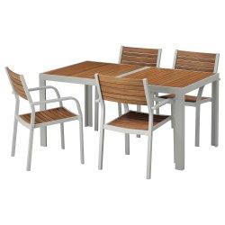 Exterior de madera sólida mueble bar restaurante China juego de mesa y silla